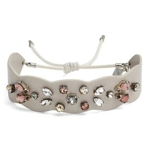 Nwt Rebecca Minkoff Guitar Strap Jeweled Bracelet.